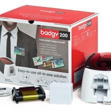 Image Evolis Badgy 200 plastkortskriver + POP radio modell deluxe B22U0000RS 01